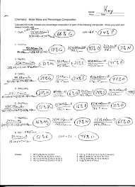calculating percent by massvolume worksheets ib chemistry on