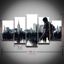 army home decor 2017 printed canvas wall art army game painting poster for home