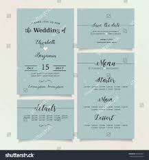 beautiful vintage wedding invitation card details stock vector