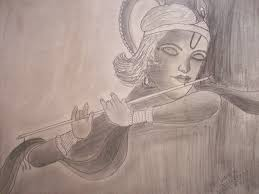 pencil sketch of lord krishna desipainters com