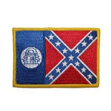 State Flag Of Georgia Historical Georgia State Flag With Confederate Dixie Rebel Motif