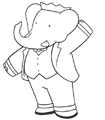 babar the elephant coloring pages coloring home