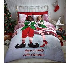 Christmas Duvet Covers Uk Buy Catherine Lansfield Selfie Elfie Bedding Set Kingsize At