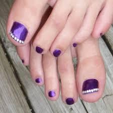 inspirational purple wedding nail designs