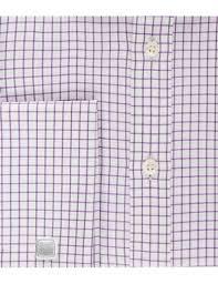 men u0027s white u0026 purple grid plaid slim fit dress shirt french cuff