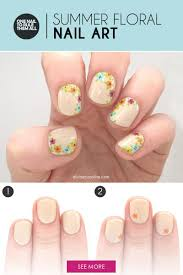 easy floral nail art to try this summer more com