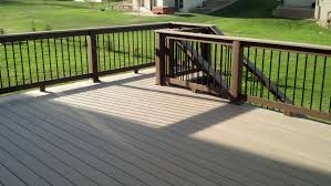 azek decking in silver oak with custom made composite railing