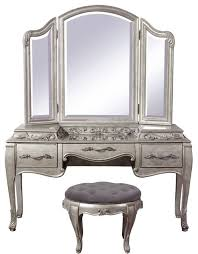 Black Vanity Table With Mirror Pulaski Furniture Rhianna 3 Piece Vanity Set Vanity Mirror And