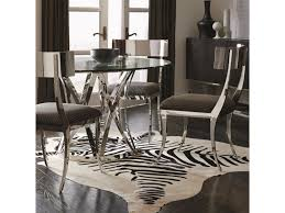 bernhardt interiors gustav 4 piece contemporary dining table and