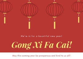 lunar new year photo cards and yellow lanterns new year card templates by canva