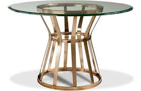 glass table base only the most dining table pedestal base only round copper wood 16