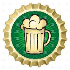 beer vector beer bottle cap with glass of beer vector clipart image 9464
