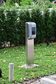 ev charger level 2 watt station pedestal with network connect ev