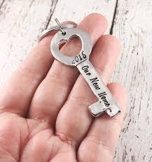 new home keychain key keychain custom hand stamped
