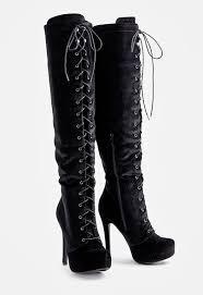 justfab s boots dashiella heeled boot in black velvet get great deals at justfab