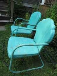 Metal Patio Rocking Chairs Best 25 Metal Lawn Chairs Ideas On Pinterest Vintage Metal
