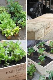 diy wine box vegetable garden the style files