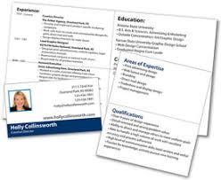 resume business cards mini resume and custom portable pocket resume