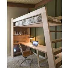 xo solid wood loft bed with bookcase and angle ladder loft beds