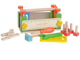 Toy Wooden Tool Bench Chic Everearth My First Wooden Work Bench With Tools Www Hettweb Com
