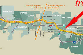 Gold Line Map Train Stops In Azusa No Measure R2 For Gold Line To Claremont