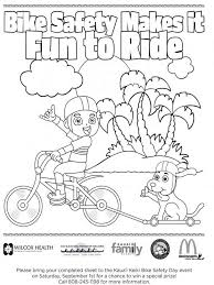 bicycle safety coloring coloring coloring page