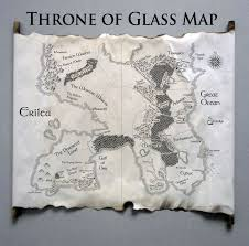 map of erilea map of the world of throne of glass sarah j