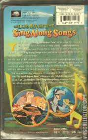 the land before time sing along songs vhscollector com your