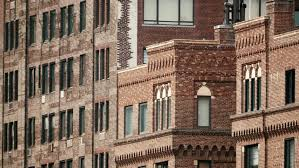 new york city architecture apartment building brick wall detail