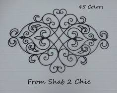 Fleur De Lis Headboard Wrought Iron Wall Decor Black Wall Decor Fleur De Lis