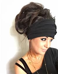 wide headband black scrunch headband wide headband turban headband