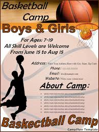 camp flyer template best word templates