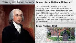 1810 james madison national university state of the union history