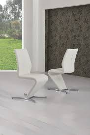 Designer Dining Chair Zico White Z Designer Dining Chair