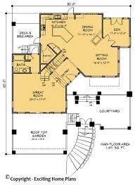 hillside floor plans modern house garage dream cottage blueprints by exciting home plans