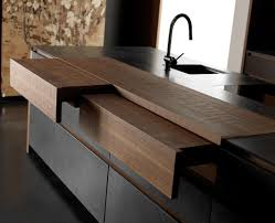 Kitchen Island With Pull Out Table Kitchen Island U0026 Carts Cool Black Masculine Cutom Benchtop With