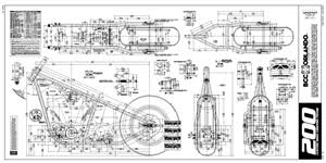 a frame blueprints the best chopper frame plans in the world