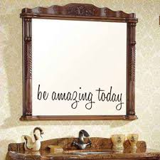 sticker for wall mirror promotion shop for promotional sticker for be amazing today mirror quote adhesive vinyl wall sticker for toilet bathroom mirror art wall decal home decoration accessories