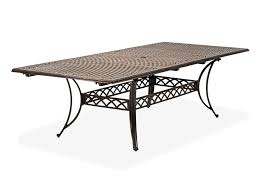 Aluminum Patio Dining Table Luxuriant Rectangular Outdoor Patio Dining Table Innovative