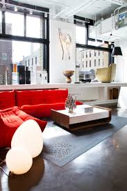 Living Room With Red Sofa by Adorable Red Sofas Creating A Modern Impression Of Living Room