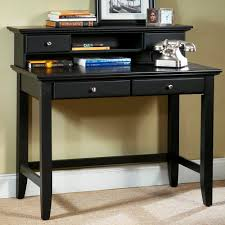 Home Computer Desk With Hutch by Furniture Black Desk With Drawers For Magnificent Home Office