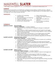 Pizza Delivery Resume Driver Resume Format Doc Office Security Officer Resume