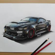 widebody muscle cars black widebody mustang that cartist grl draw to drive