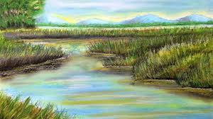 How To Draw Landscapes by How To Draw A Pastel Landscape Over Watercolor Underpainting Youtube