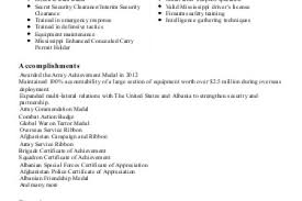 Disney Resume Example by Military Platoon Sergeant Resume Examples Reentrycorps