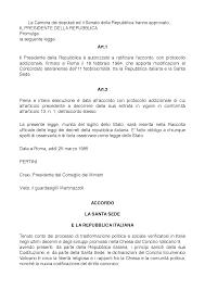 sede presidente della repubblica italiana accordo di villa madama docsity