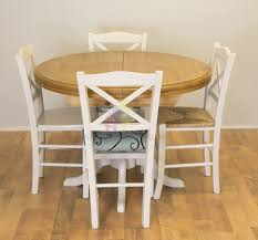 solid pine painted round extending table furniture4yourhome