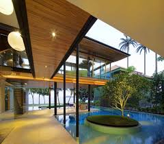 environmentally friendly modern tropical house in singapore photo