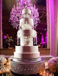 wedding cake displays sparkling crystal cake stands inside weddings