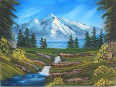 Mountain Landscape Paintings by Waterfall Country Mountain Landscape Ideas For Painting